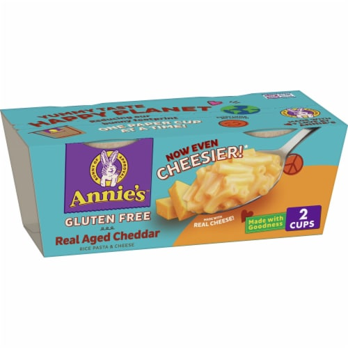 Annie's Gluten Free Rice Pasta & Cheddar Macaroni & Cheese Perspective: front