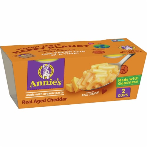 Annie's Real Aged Cheddar Macaroni & Cheese Cups Perspective: front