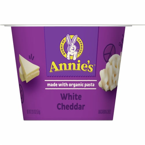 Annie's White Cheddar Macaroni & Cheese Cup Perspective: front