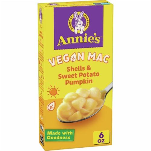 Annie's Organic Vegan Shells & Sweet Potato Pumpkin Macaroni & Creamy Sauce Perspective: front
