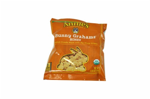 Annies Organic Honey Bunny Grahams Snack, 1.25 Ounce -- 100 per case. Perspective: front