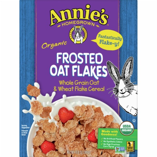 Annie's Homegrown Organic Frosted Oat Flakes Cereal Perspective: front