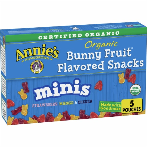 Anne's Organic Mini Bunny Fruit Snacks Perspective: front