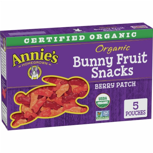 Annie's Organic Berry Patch Bunny Fruit Snacks Perspective: front