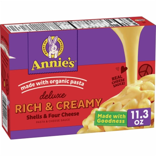 Annie's Deluxe Rich & Creamy Shells & Four Cheese Perspective: front