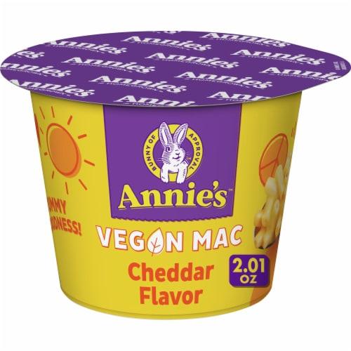 Annie's Homegrown Organic Vegan Mac Cheddar Flavor Pasta & Sauce Perspective: front