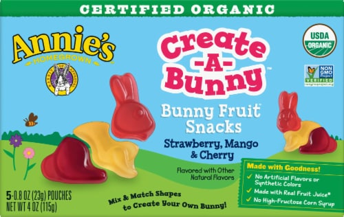 Annie's Organic Create-A-Bunny Fruit Snacks Perspective: front