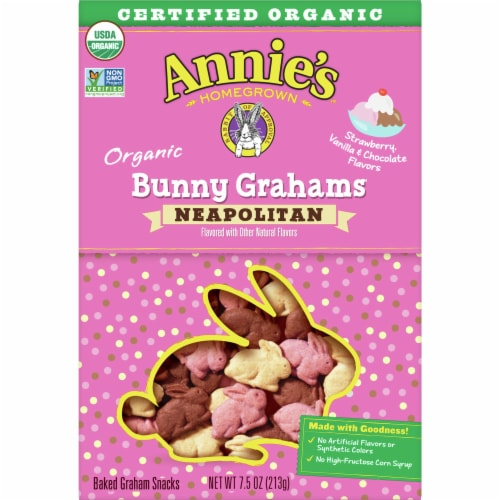 Annie's Organic Neapolitan Bunny Grahams Perspective: front