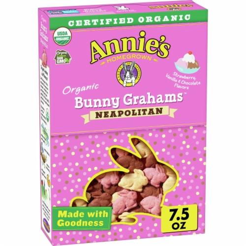 Annie's Organic Neopolitan Bunny Grahams Perspective: front
