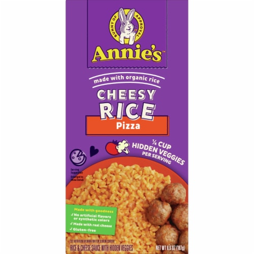Annie's Pizza Flavored Cheesy Rice with Hidden Veggies Perspective: front