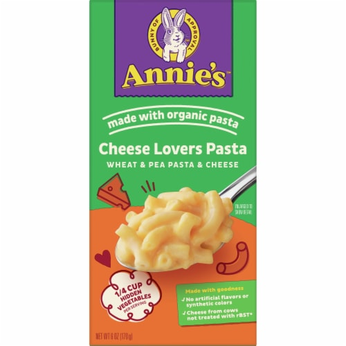 Annie's Cheese Lovers Wheat & Pea Pasta and Cheese Perspective: front