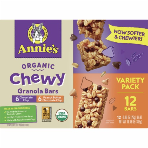 Annie's Organic Chewy Granola Bars Variety Pack Perspective: front