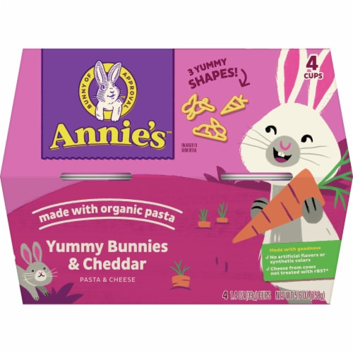 Annie's™ Yummy Bunnies & Cheddar Pasta & Cheese Perspective: front