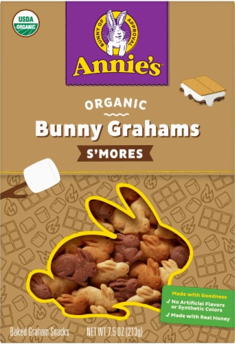Annie's Organic S'Mores Bunny Grahams Perspective: front