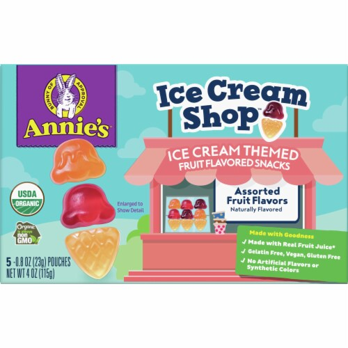 Annie's Ice Cream Shop Fruit Snacks Perspective: front