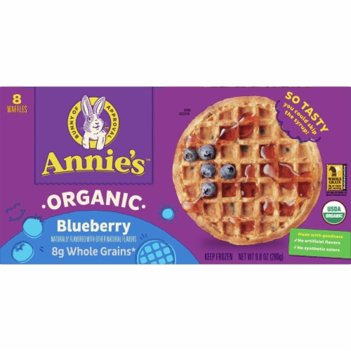 Annie's Organic Blueberry Waffles Perspective: front