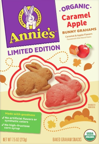 Annie's Organic Caramel Apple Bunny Grahams Perspective: front
