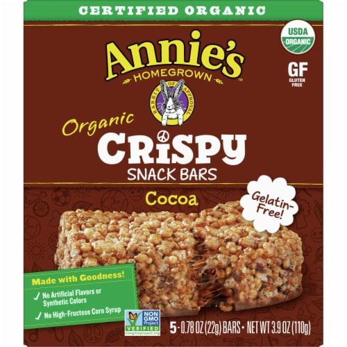 Annie's Organic Cocoa Crispy Snack Bars Perspective: front