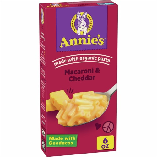 Annie's Reduced Sodium Classic Mild Cheddar Macaroni & Cheese Perspective: front