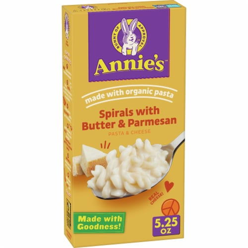 Annie's Spirals with Butter & Parmesan Macaroni & Cheese Perspective: front