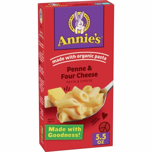 Annie's Homegrown Organic Penne & Four Cheese Macaroni & Cheese Perspective: front