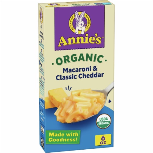 Annie's Organic Classic Cheddar Macaroni & Cheese Perspective: front
