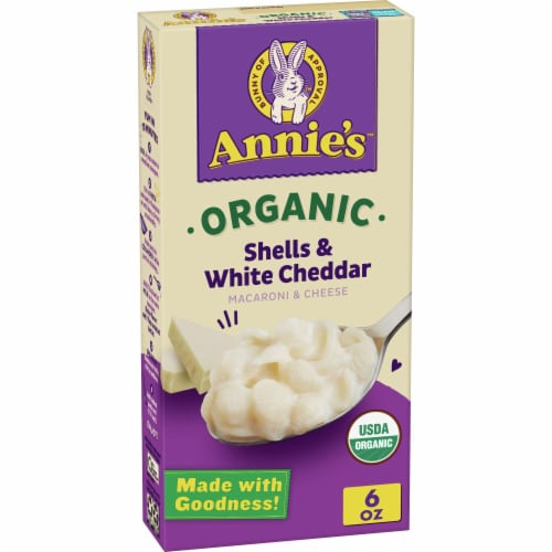 Annie's Organic Shells & White Cheddar Macaroni & Cheese Perspective: front