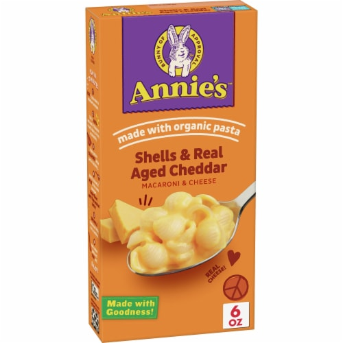 Annie's Shells & Aged Cheddar Macaroni & Cheese Perspective: front