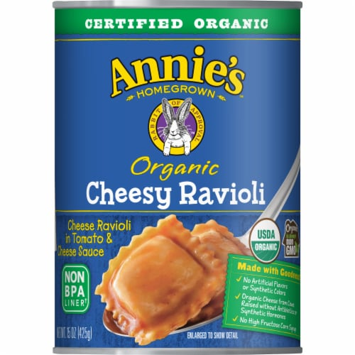 Annie's Organic Cheesy Ravioli Perspective: front