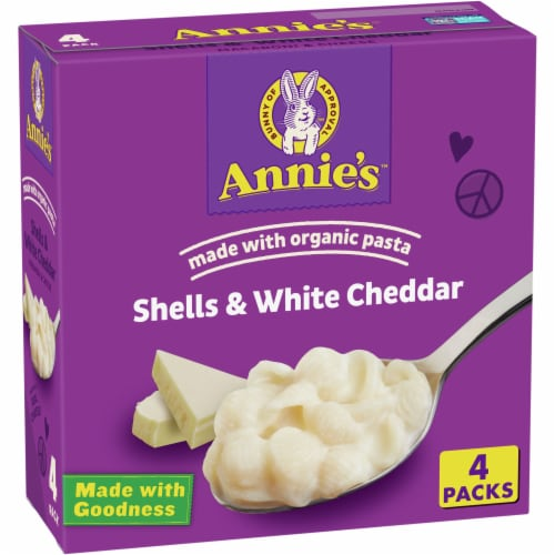 Annie's Shells & White Cheddar Macaroni & Cheese Perspective: front