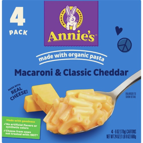 Annie's Homegrown Classic Mild Cheddar Macaroni & Cheese Perspective: front
