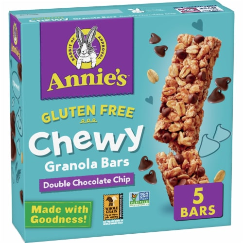 Annie's Gluten Free Double Chocolate Chip Granola Bars 5 Count Perspective: front