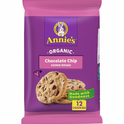 Annie's Organic Chocolate Chip Cookie Dough Perspective: front