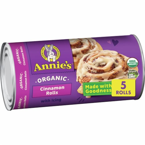 Annie's Organic Cinnamon Rolls with Icing Perspective: front