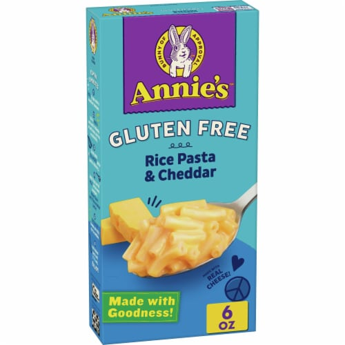 Annie's Gluten-Free Rice Pasta & Classic Cheddar Macaroni & Cheese Perspective: front