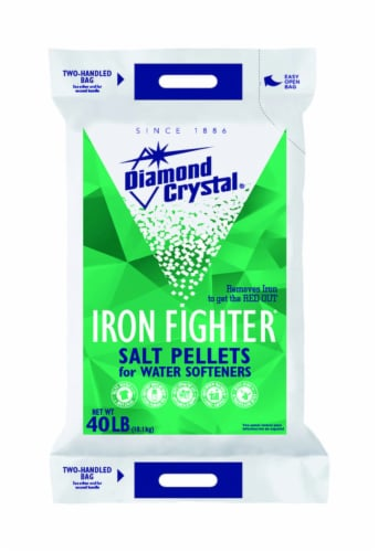 Diamond Crystal Iron Fighter Water Softener Salt Pellets 40 lb. - Case Of: 1; Each Pack Qty: Perspective: front