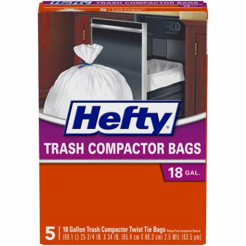 Hefty 18-Gallon Trash Compactor Bags Perspective: front