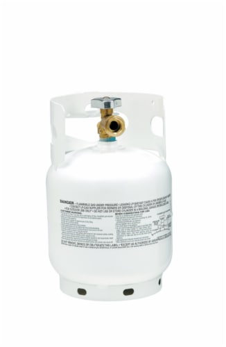 Manchester Tank 10 pound Steel Type 1 Propane Cylinder Perspective: front