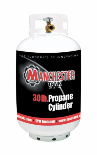 Manchester Tank 30 lb. Steel Type 1 Propane Cylinder - Case Of: 1; Perspective: front