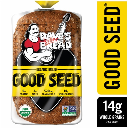 Dave's Killer Bread Organic Good Seed Whole Grain Bread Perspective: front