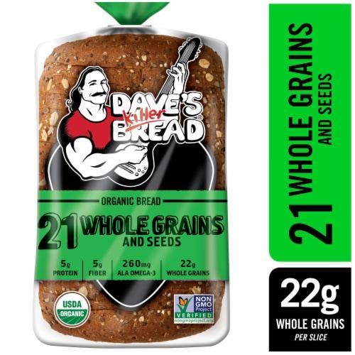Dave's Killer Bread Organic 21 Whole Grain Bread Perspective: front