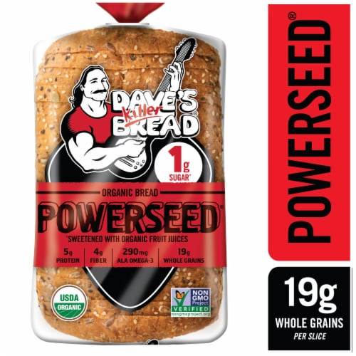 Dave's Killer Organic Powerseed Bread Perspective: front