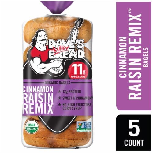 Dave's Killer Cinnamon Raisin Remix Bagels Perspective: front