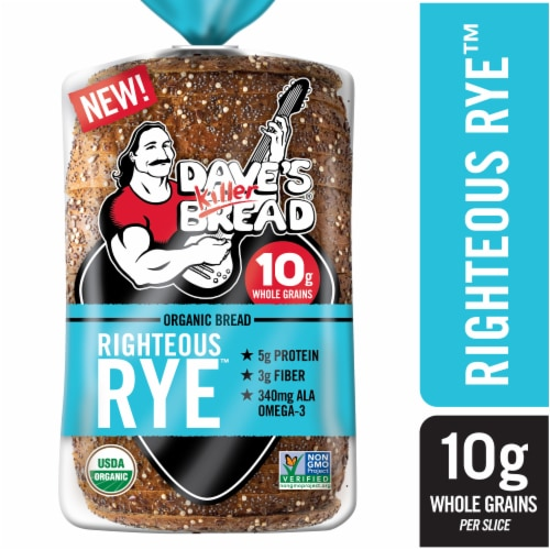Dave's Killer Bread Righteous Rye Organic Loaf Perspective: front
