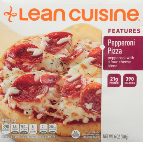 Lean Cuisine Features Pepperoni Frozen Pizza Perspective: front