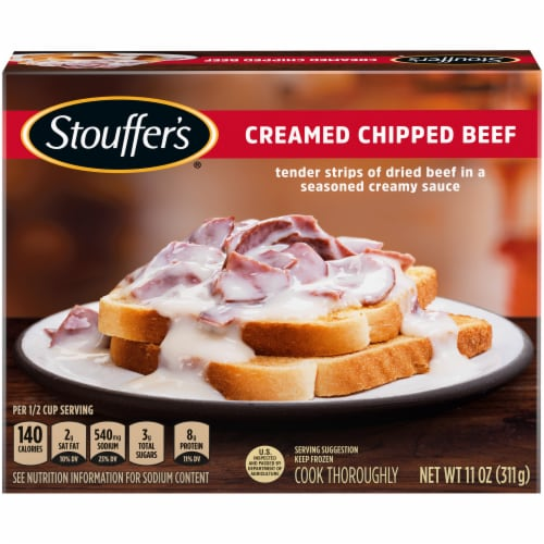 Stouffer's Creamed Chipped Beef Frozen Meal Perspective: front