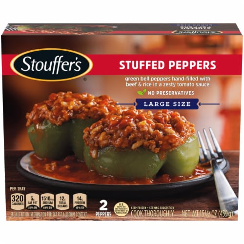 Stouffer's Stuffed Peppers Large Size Frozen Meal Perspective: front