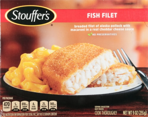Stouffer's Fish Filet Frozen Meal Perspective: front