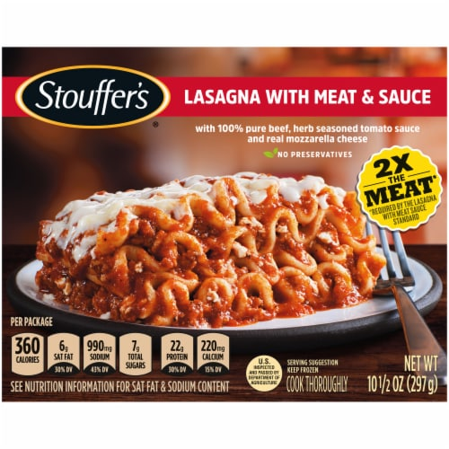 Stouffer's Lasagna with Meat & Sauce Frozen Meal Perspective: front