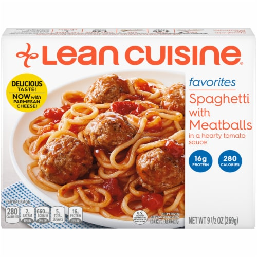 Lean Cuisine Favorites Spaghetti With Meatballs Frozen Meal Perspective: front